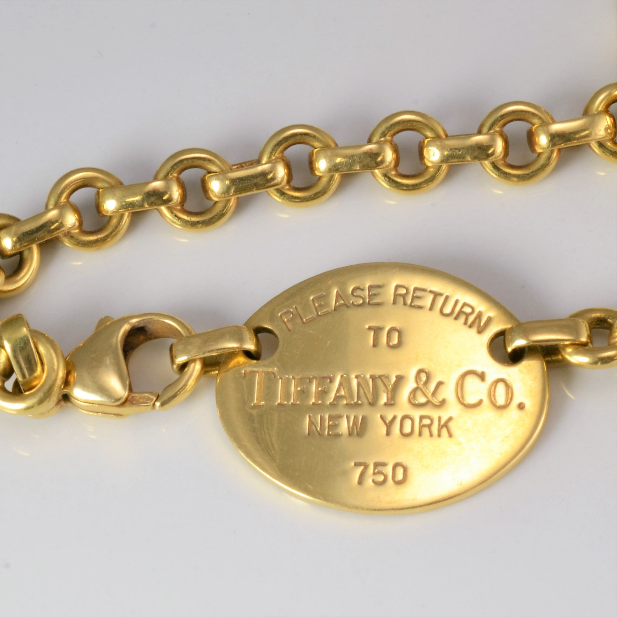 Tiffany & Co. 18K Gold Rolo Chain Heavy Necklace | 16''|