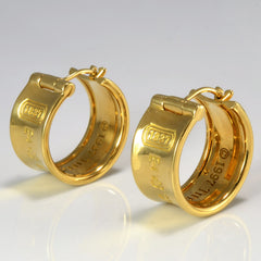 Tiffany & Co. 18K Wide Hoop Earrings