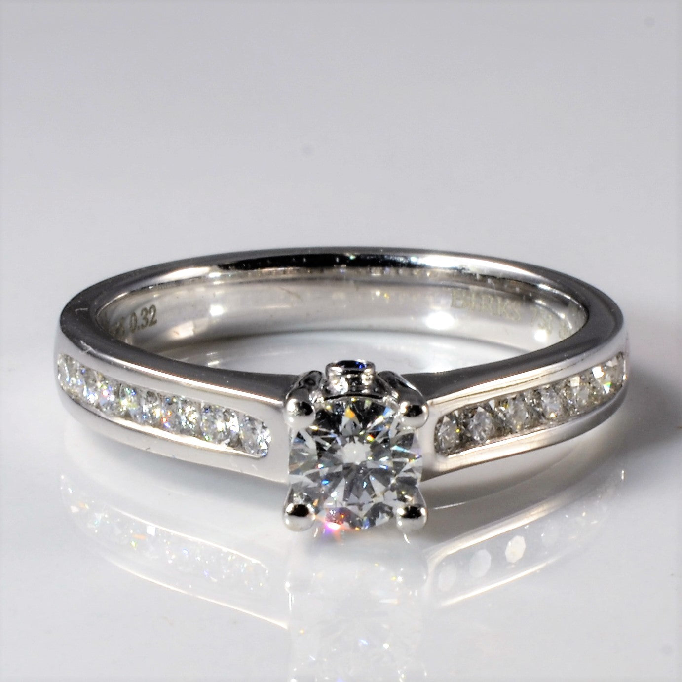 'Birks' Channel Set Side Stone Engagement Ring | 0.60ctw | SZ 7 |