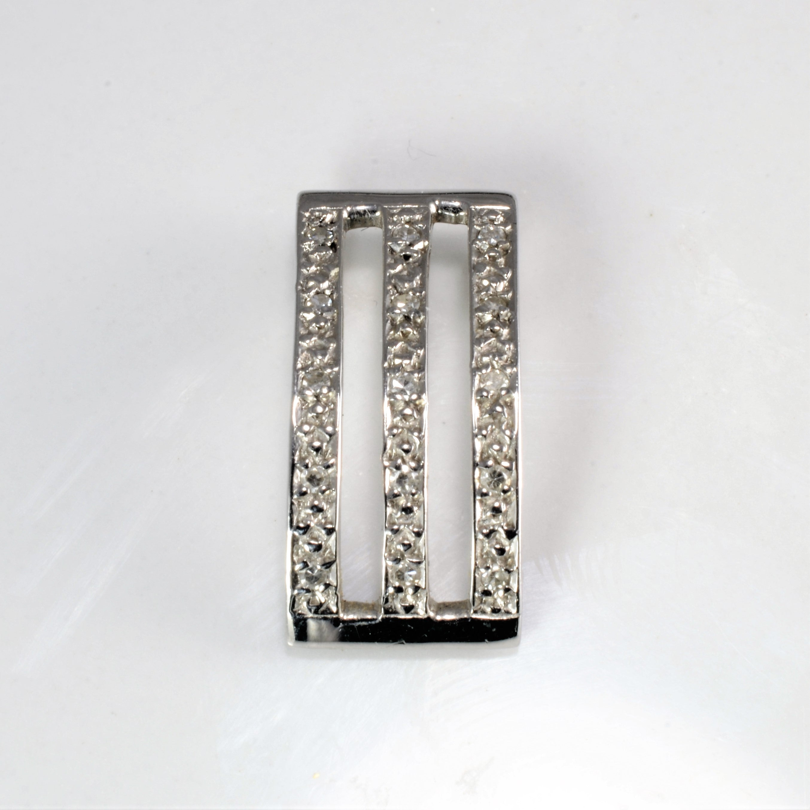 Triple Row Pave Diamond Pendant | 0.07 ctw |