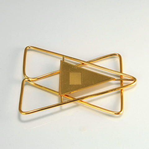 Star Textured Gold Paper Clip