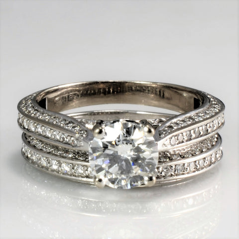 Cathedral Diamond Engagement Ring Set | 1.85 ctw, SZ 5.75 |