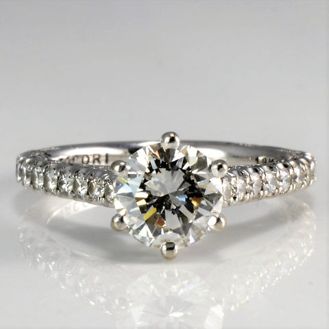Cathedral Set Diamond Engagement Ring | 1.45 ctw, SZ 4.25 |