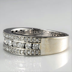 Elegant Channel Diamond Wedding Band | 0.54 ctw, SZ 6.75 |