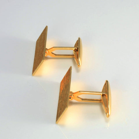 BIRKS Brushed Gold Cufflinks