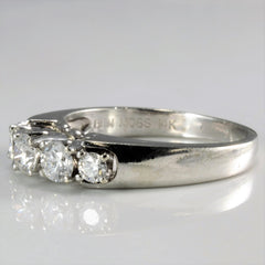 V Prong Five Stone Diamond Engagement Ring | 0.47 ctw, SZ 4.75 |