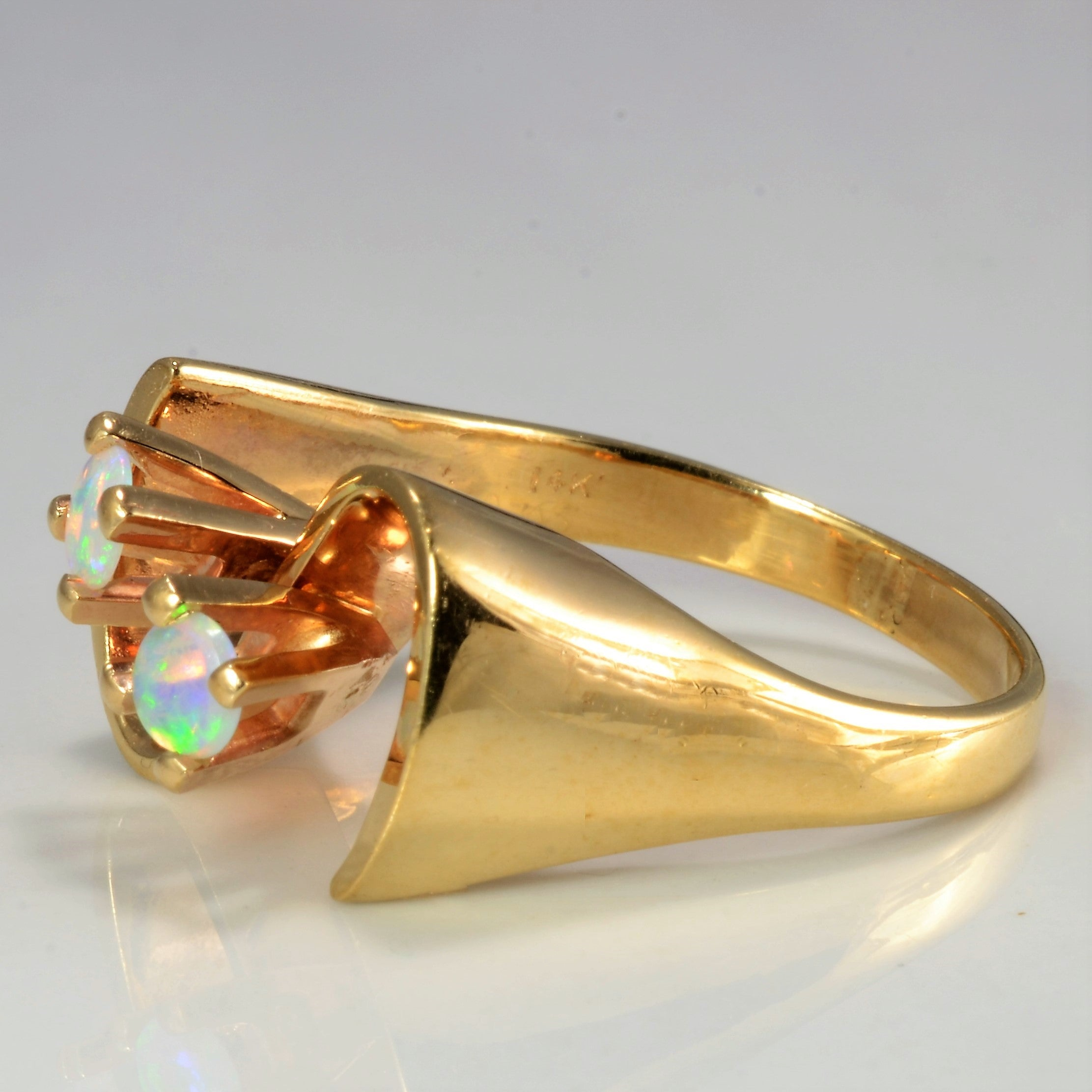 High Set Opal Textured Ring | SZ 8.25 |