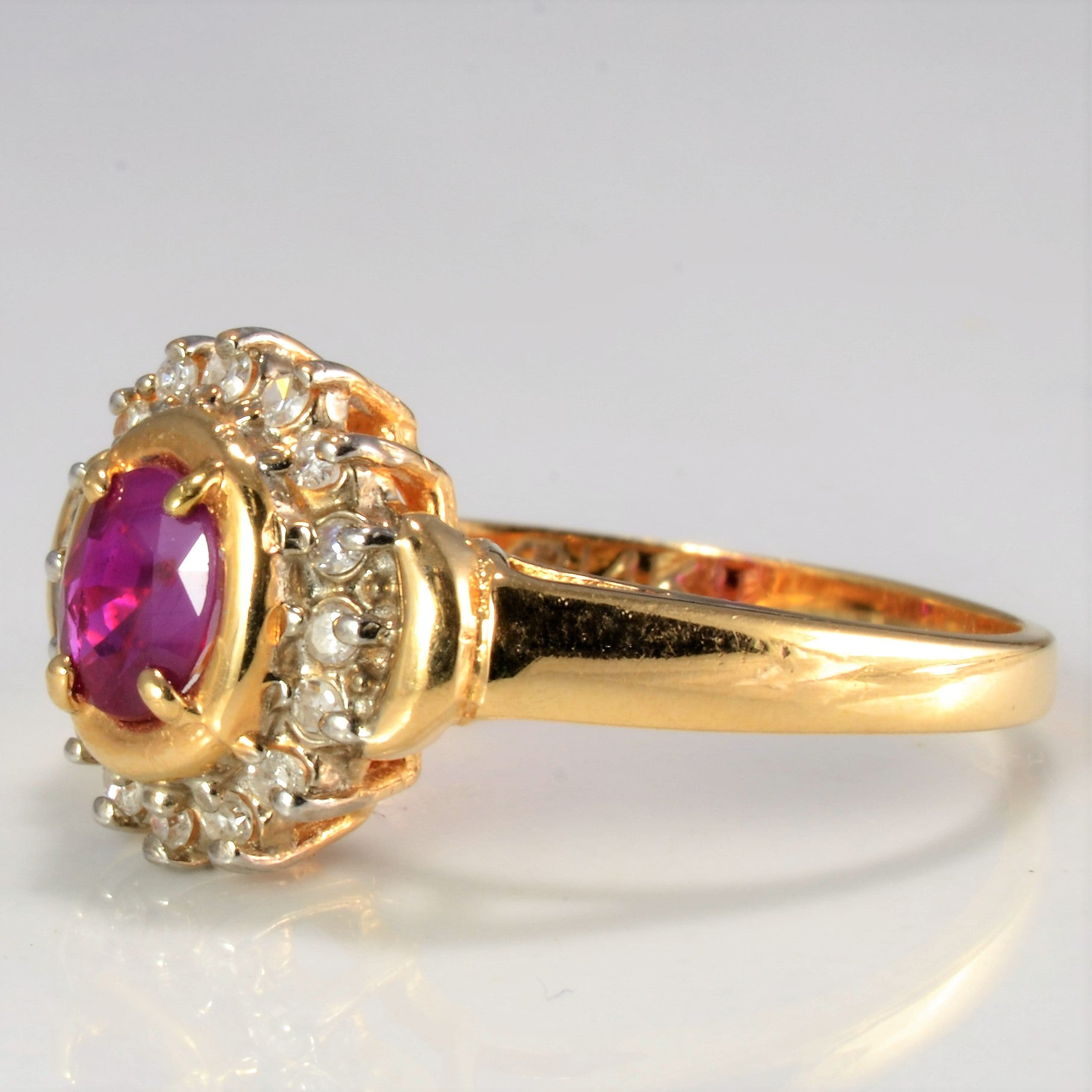 Ruby & Diamond Ladies Cocktail Ring | 0.16 ctw, SZ 6 |