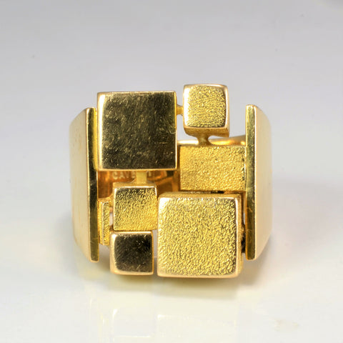 CAVELTI Textured Gold Heavy Ring | SZ 10.25 |