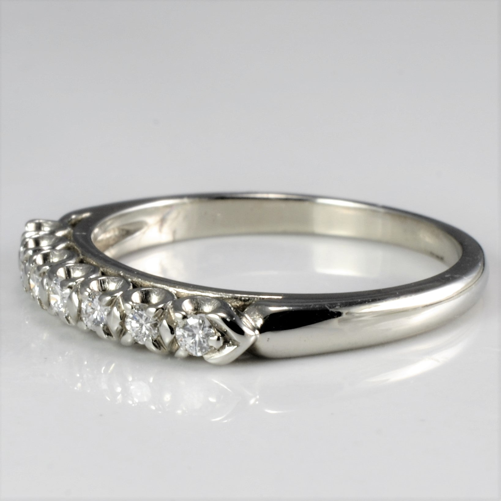 Claw Set Diamond Wedding Band | 0.21 ctw, SZ 4.75 |