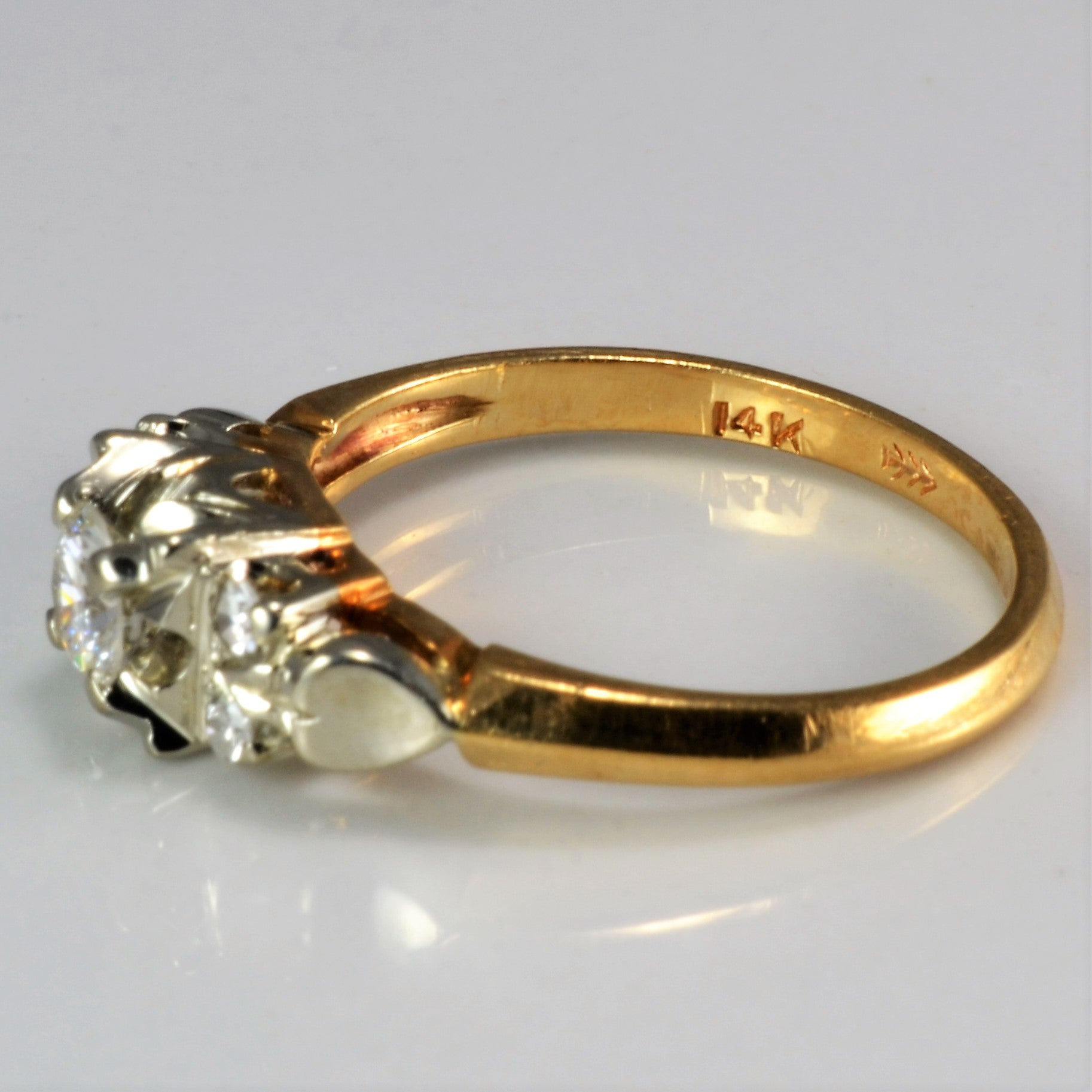 Retro Diamond Engagement Ring | 0.32 ctw, SZ 5.25 |