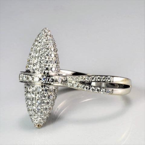 BOODLES Velocity Pave White Gold Diamond Ring | 1.00 ctw, SZ 6 |