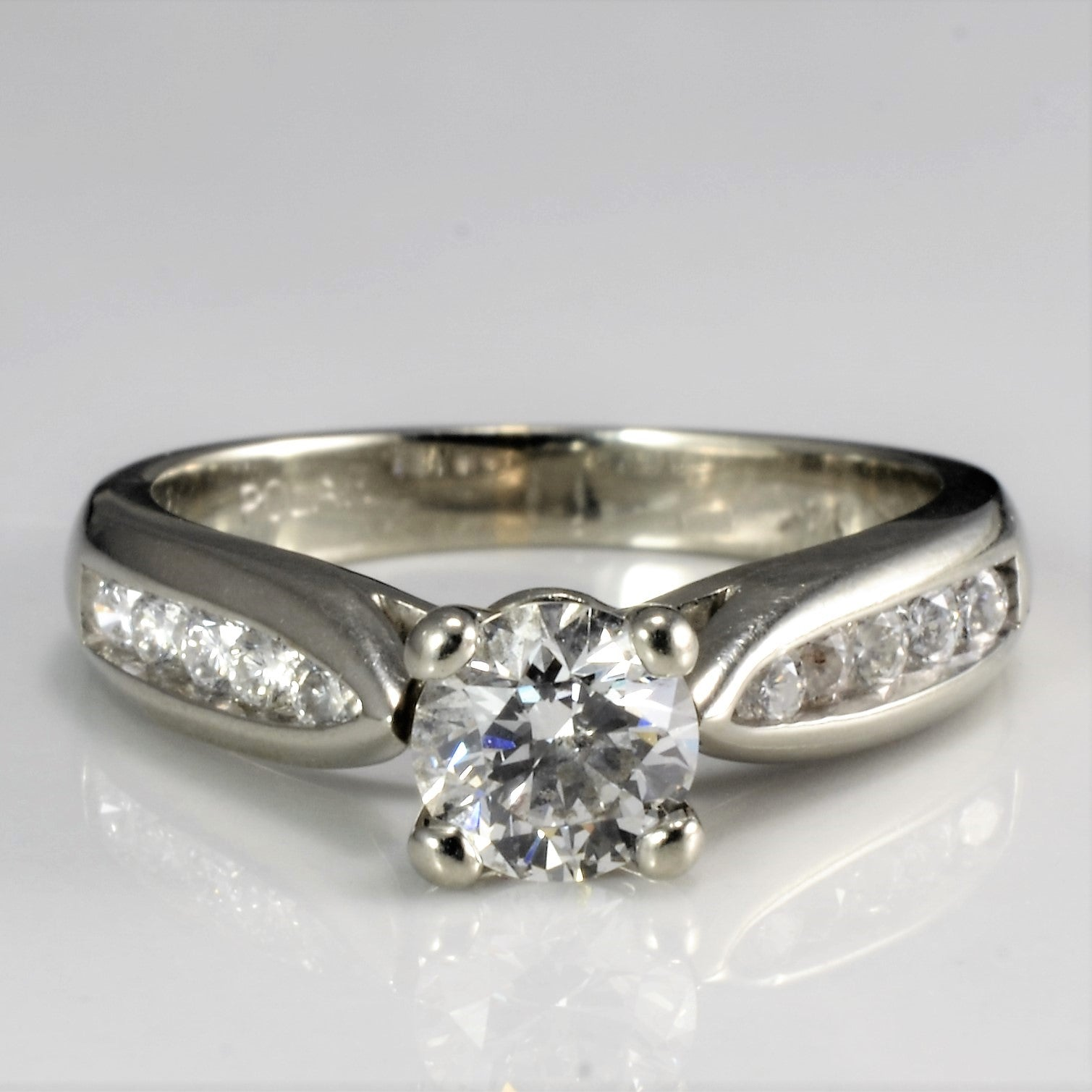 Prong St Diamond & Accents Engagement Ring | 0.63 ctw, SZ 5 |