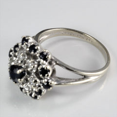 Sapphire & Diamond Ladies Cocktail Ring | 0.09 ctw, SZ 7 |