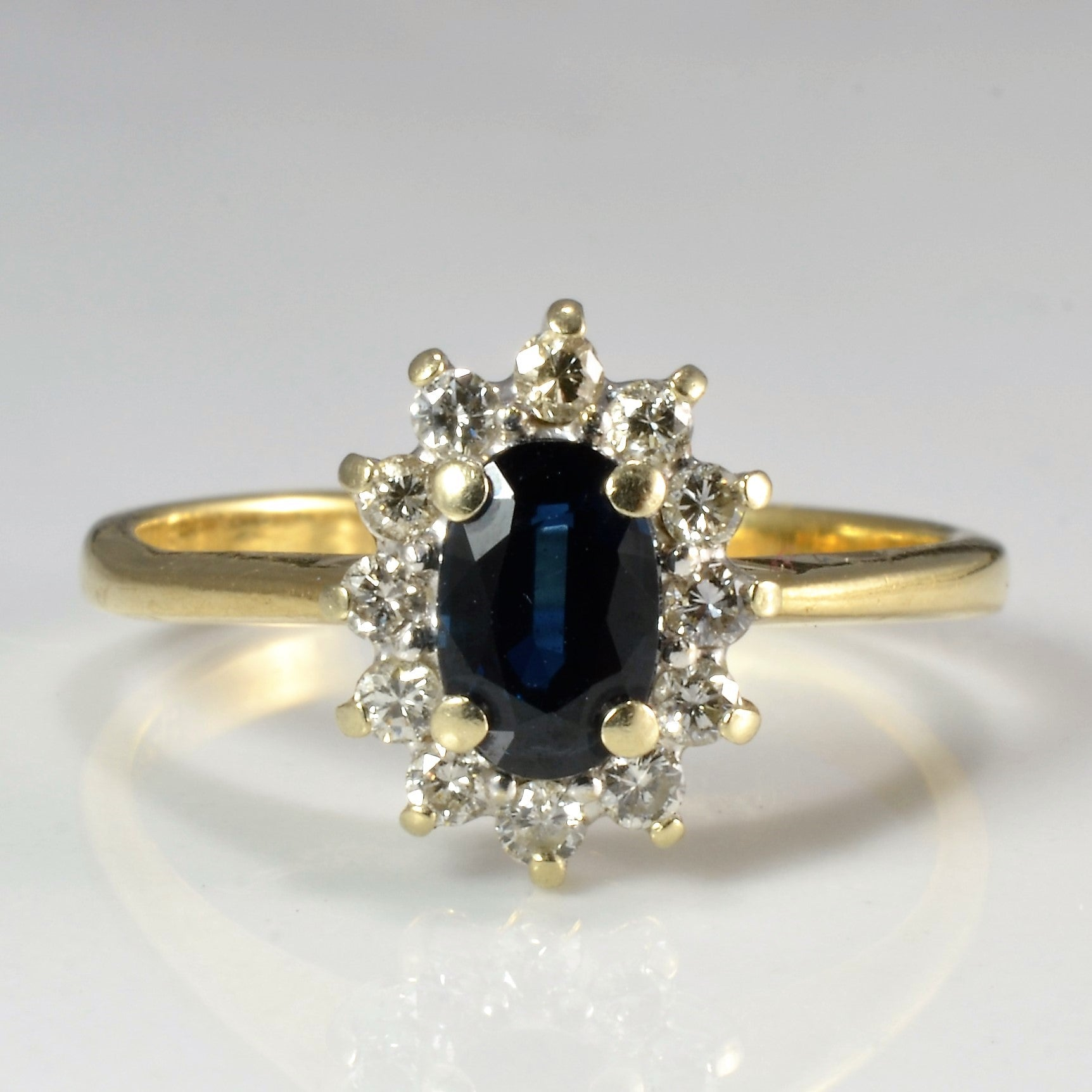 Cocktail Sapphire & Diamond Ladies Ring | 0.24 ctw, SZ 6.25 |