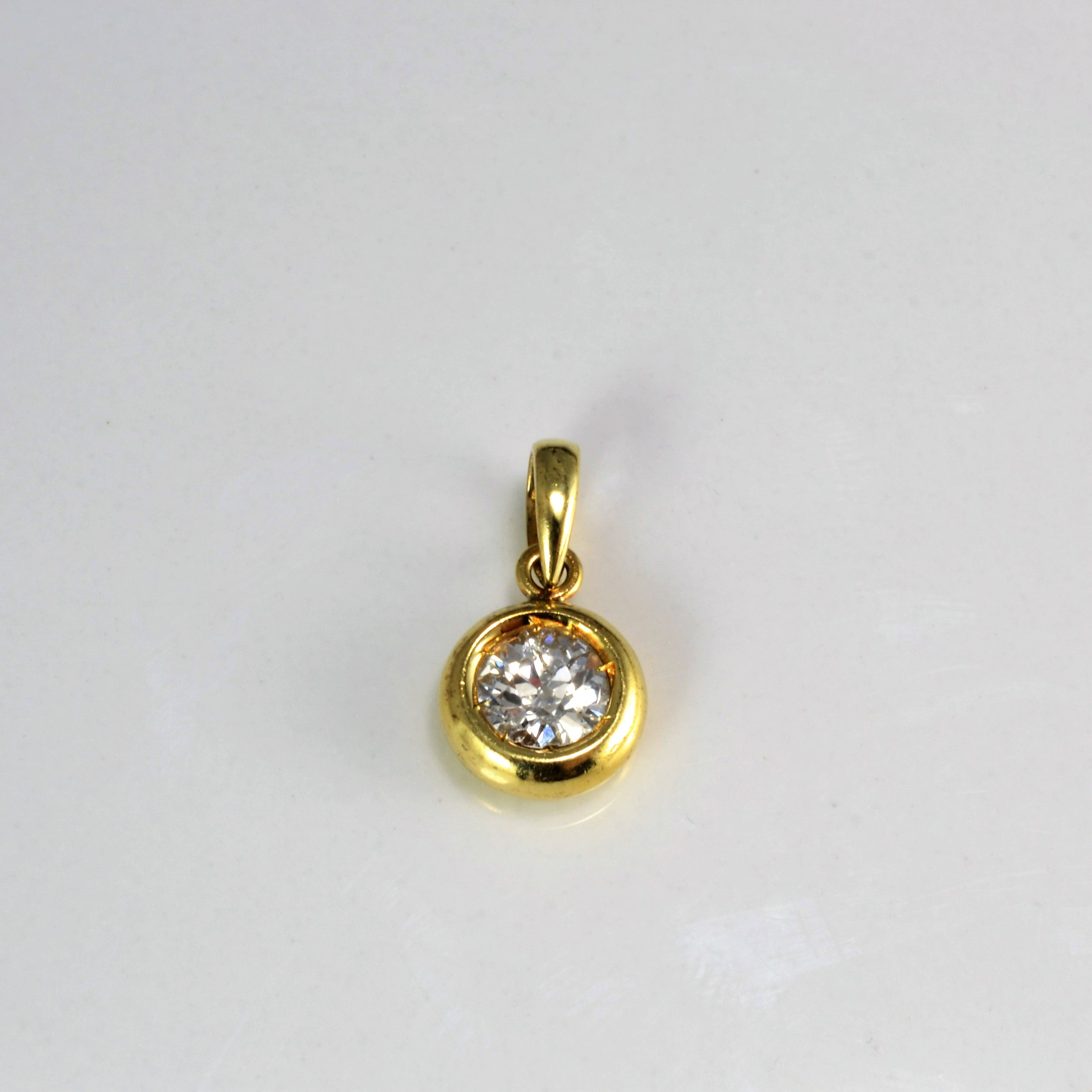 Bezel Set Diamond Pendant | 0.50 ct |