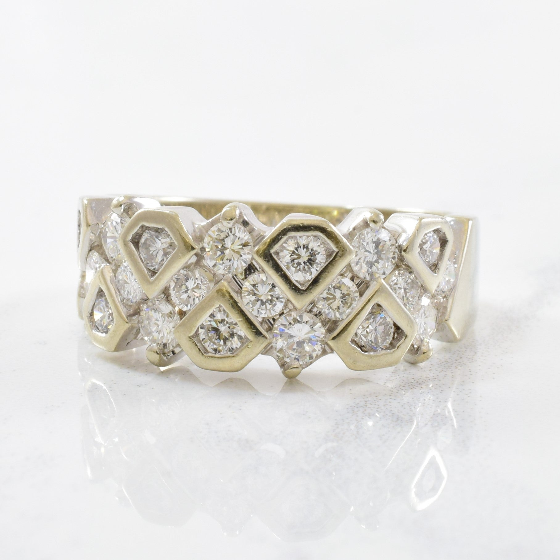 Diamond Lattice Ring | 0.95ctw | SZ 7 |