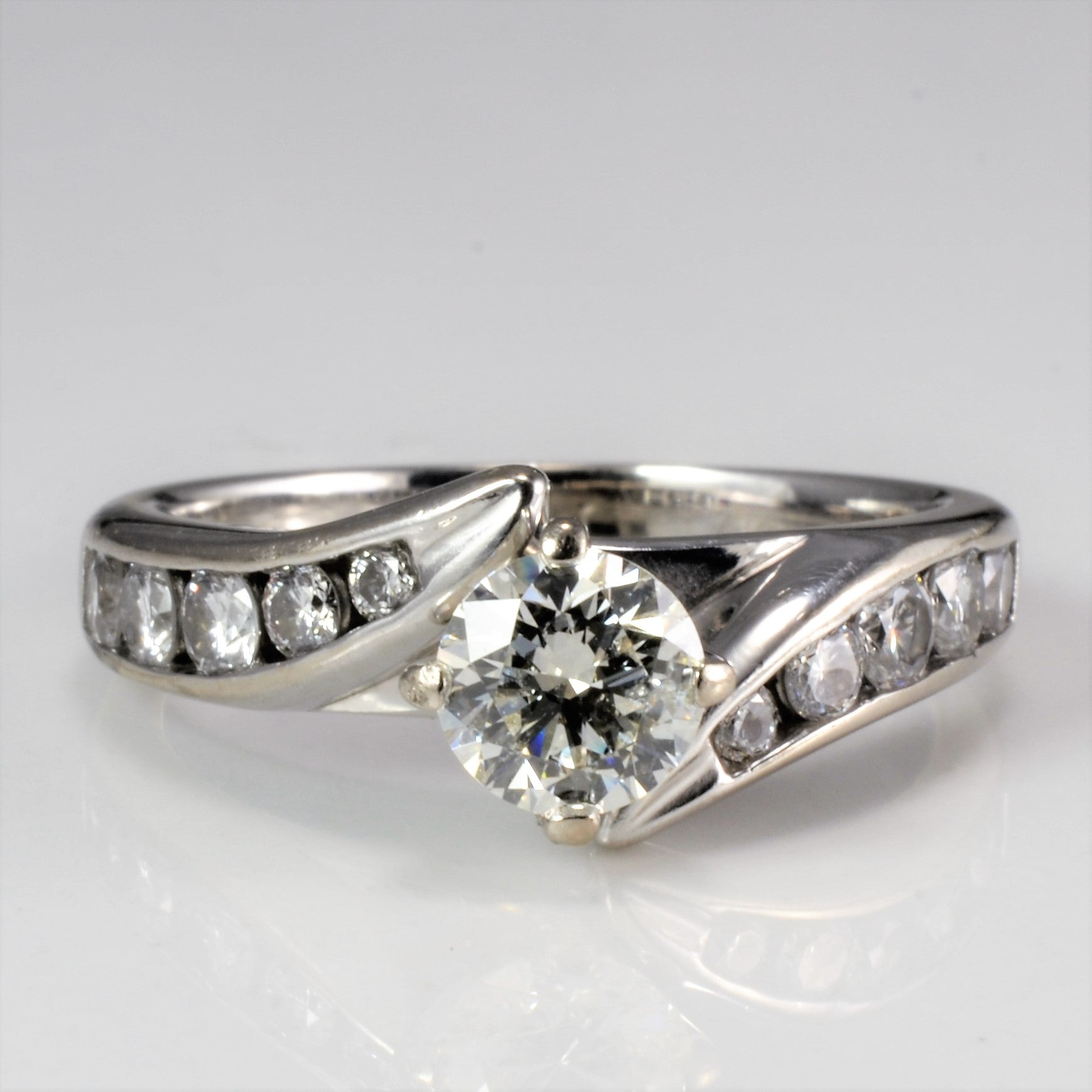 Bypass Diamond Engagement Ring | 0.83 ctw, SZ 5.5 |