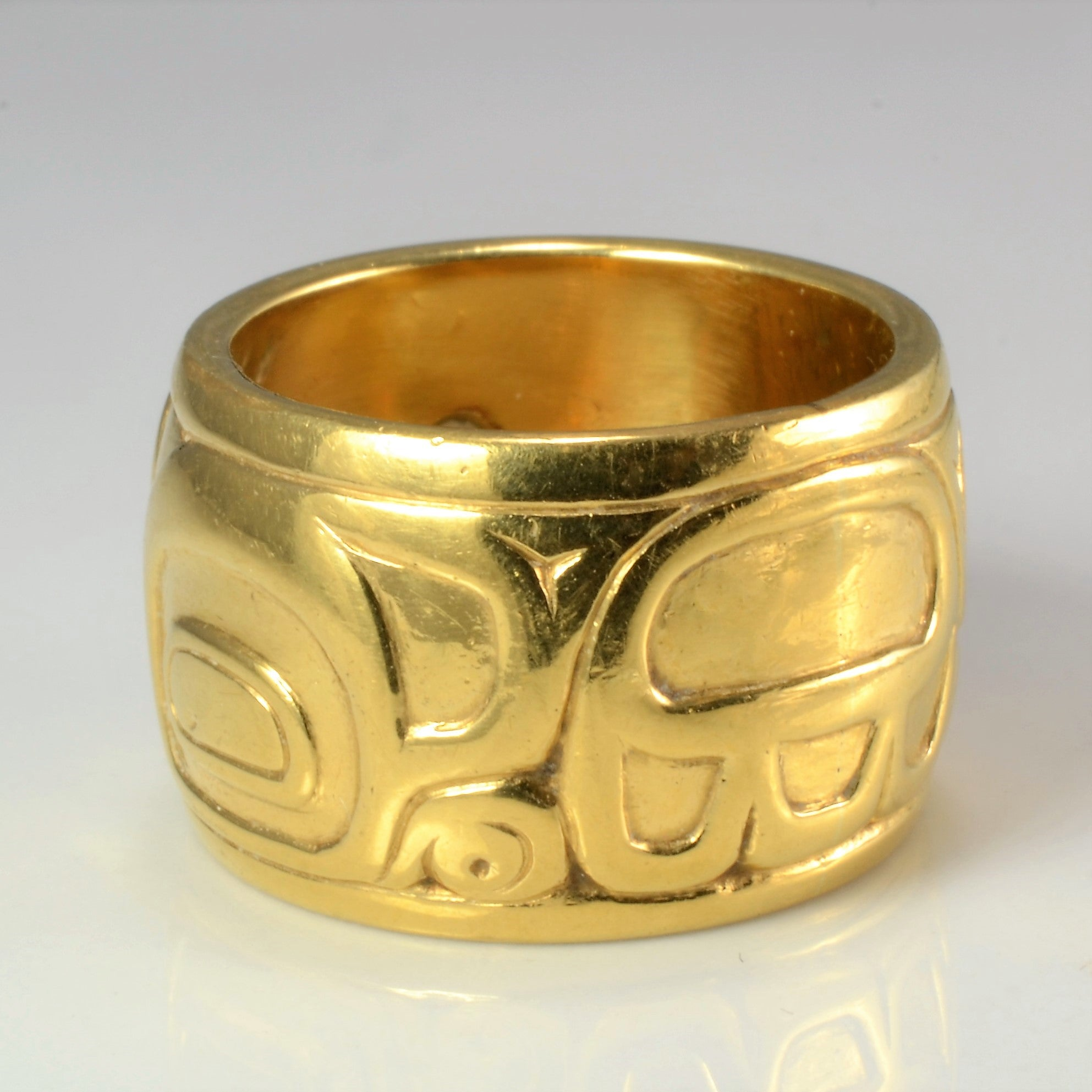 Indigenous Bear Design Diamond Wide Band | 0.16 ctw, SZ 6 |