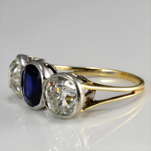 Three Stone Edwardian Era Engagement Ring | 2.42 ctw, SZ 6 |
