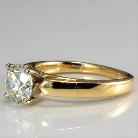 Tapered Solitaire Diamond Engagement Ring | 1.05 ct, SZ 4.5 |