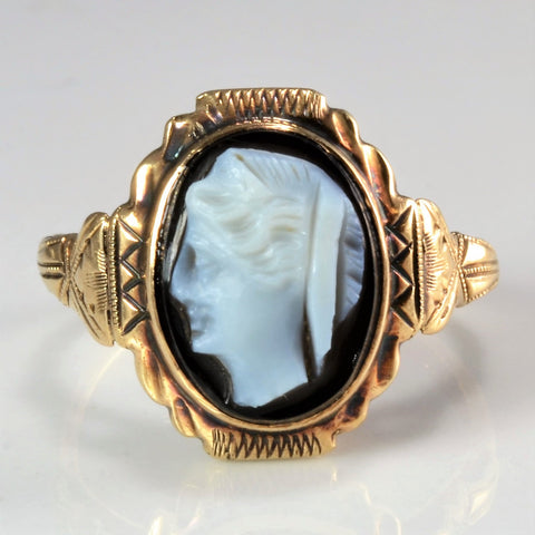 10K Gold Vintage Cameo Ring | SZ 3.25 |