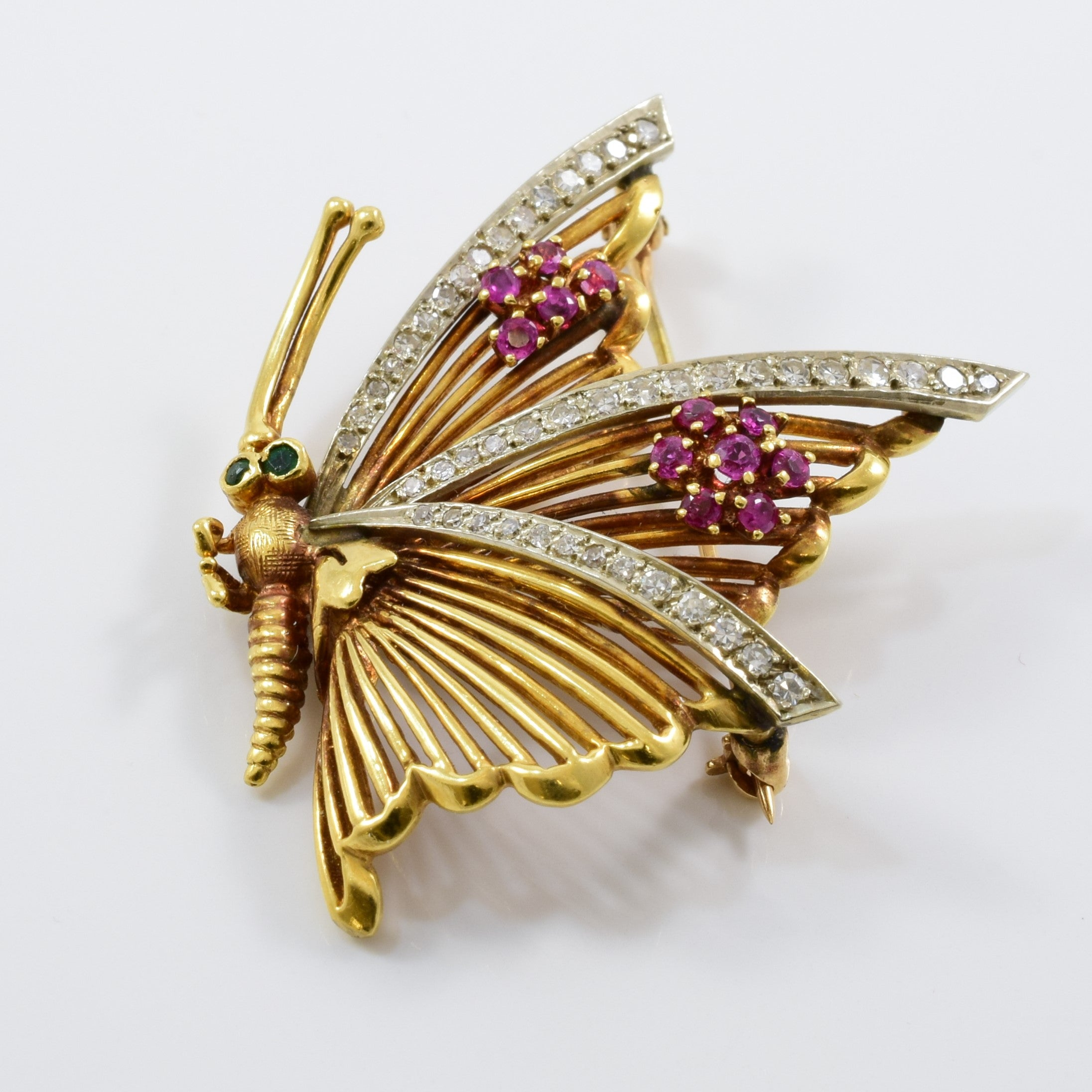 Gemstone Butterfly Brooch | 0.45 ctw |