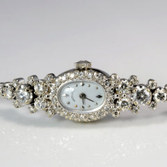 14K White Gold Multi Diamond Ladies Hamilton Watch | 1.70 ctw, 8''|