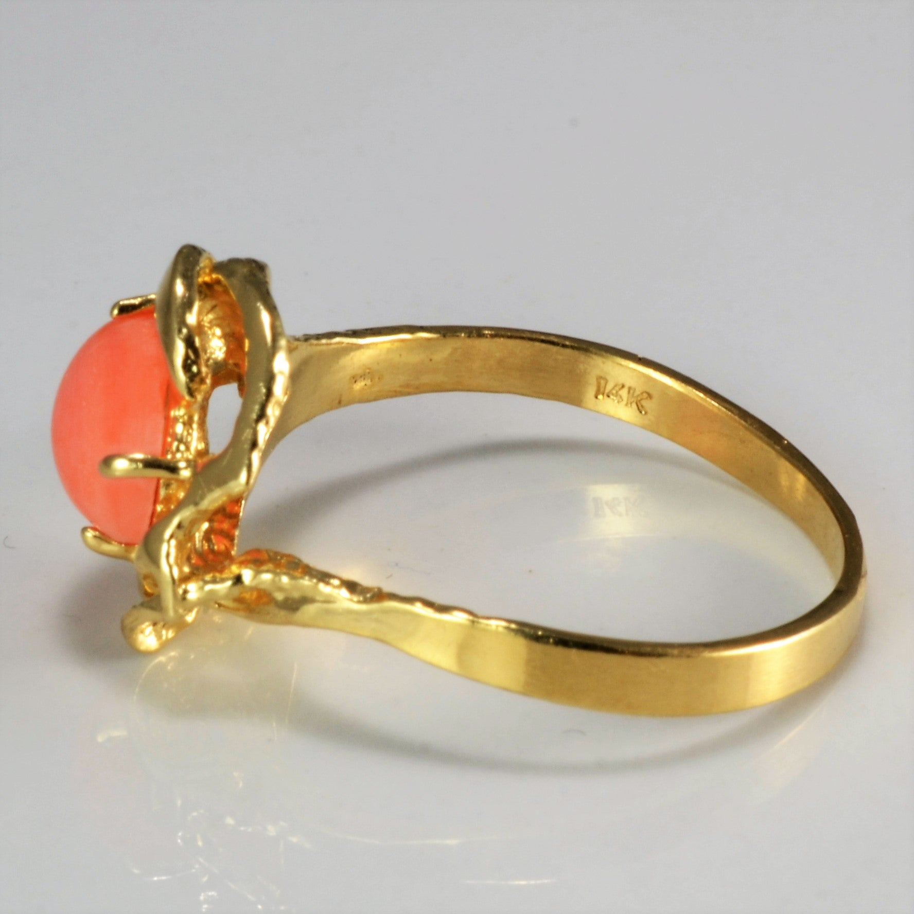 Solitaire Coral Ring | SZ 7.75 |