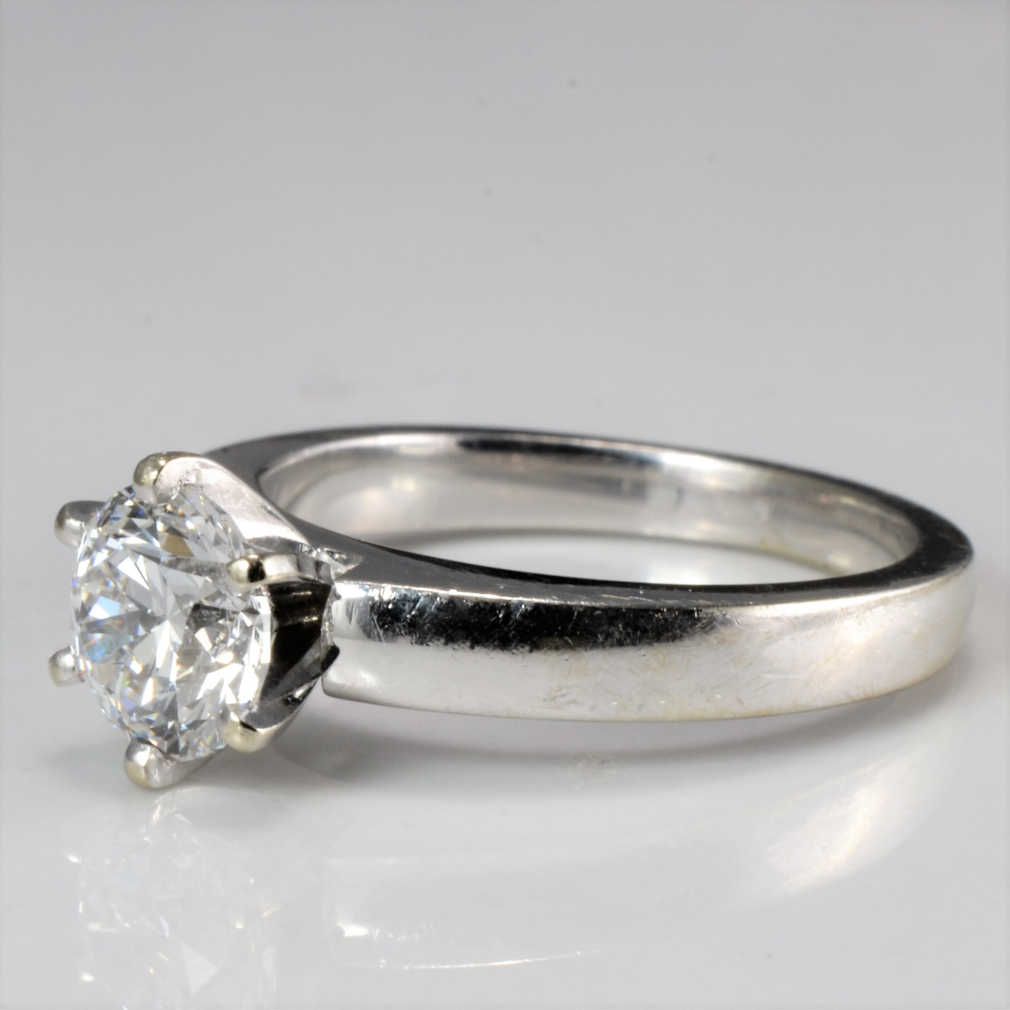 Six Prong Solitaire Diamond Engagement Ring | 1.01 ct, SZ 5 |