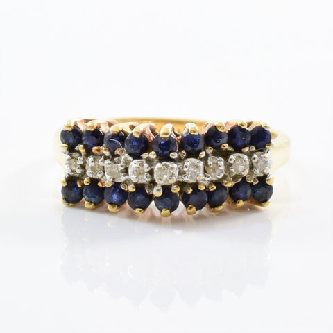 High Set Sapphire & Diamond Ring | 0.05ctw, 0.50ctw | SZ 6 |