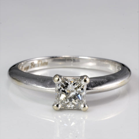 'I'll Always Be There' Engraved Princess Cut Engagement Ring | 0.41 ct, SZ 5.25 | VVS1, F |