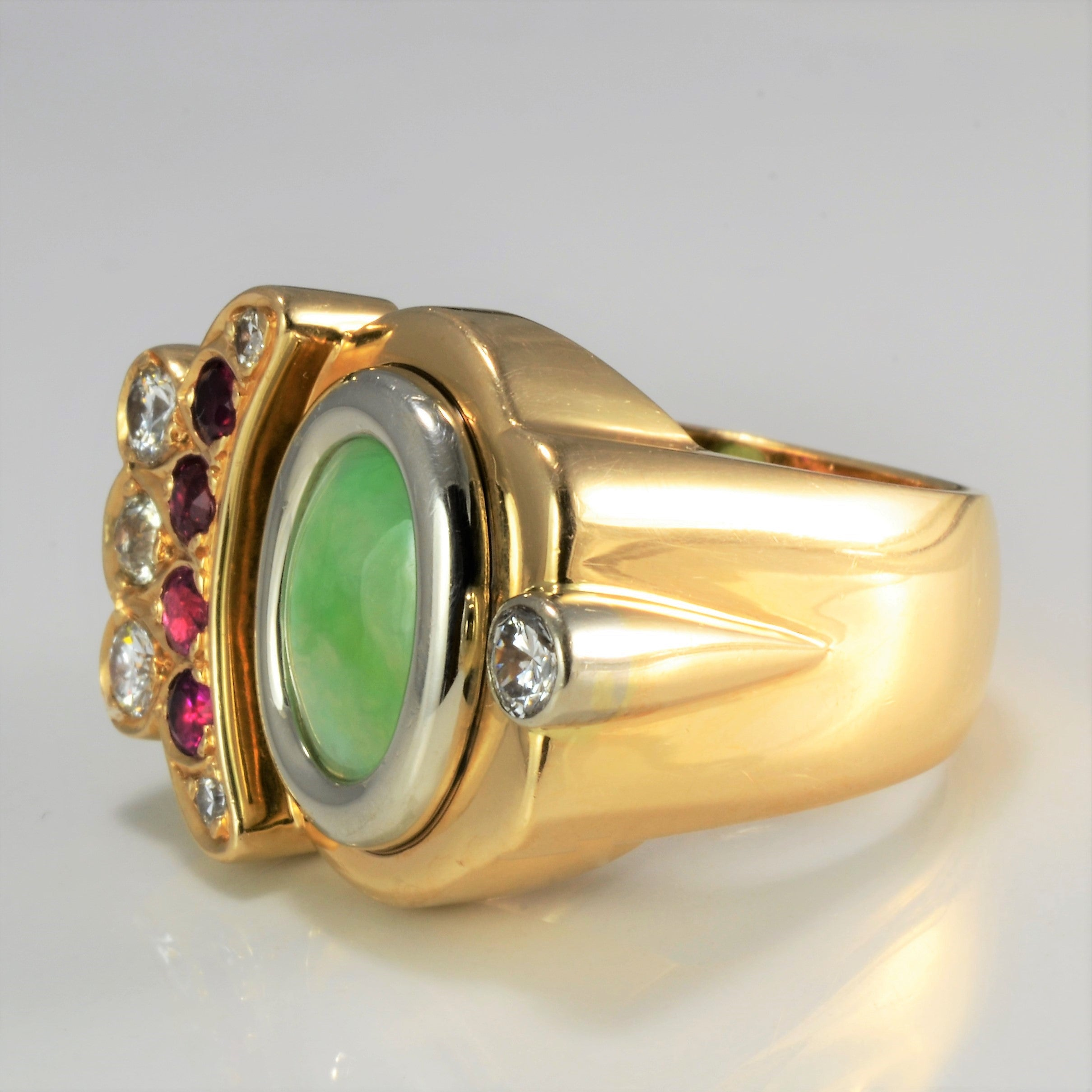 Bezel Set Multi- Gemstone Textured Ring | 0.50 ctw, SZ 9.5 |