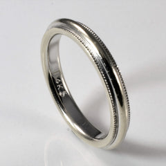 Milgrain Detailed Wedding Band | SZ 6 |