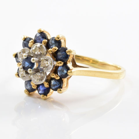 High Set Floral Sapphire & Diamond Ring | 0.05ctw, 1.00ctw | SZ 6.5 |