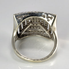 Detailed Pave Diamond Ladies Ring | 0.70 ctw, SZ 5 |