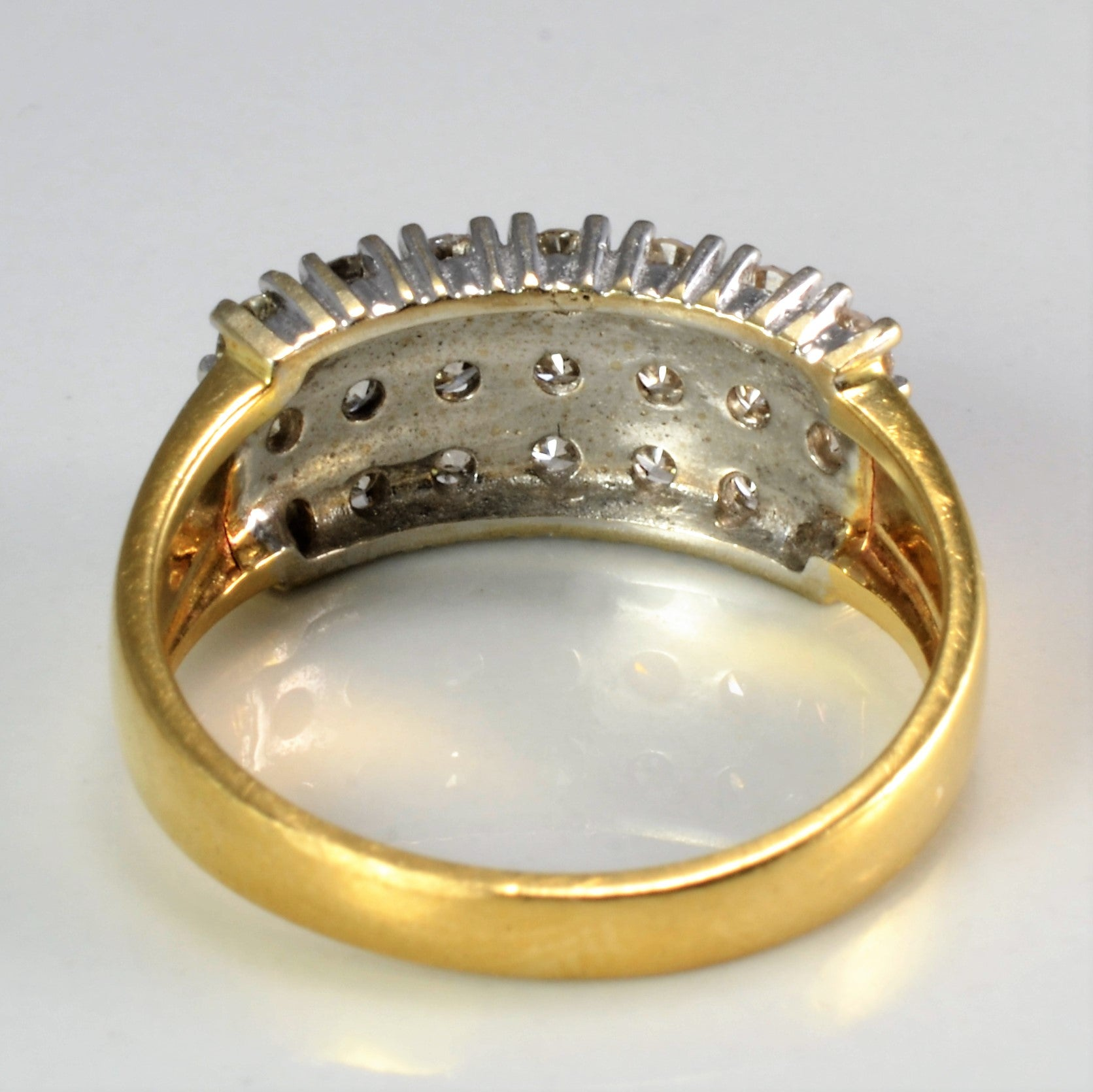 Cluster Diamond Wide Ring | 0.84 ctw, SZ 6.5 |