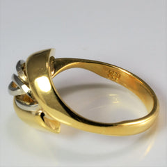 Two Tone Gold Knot Wide Ring | SZ 7.75 |