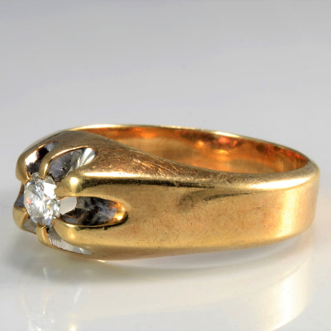 'Birks' Vintage Belcher Set Solitaire Diamond Ring | 0.28 ct | SZ 10.25 |
