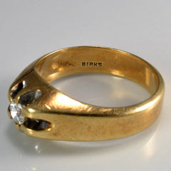 """Birks"" Solitaire Diamond Men's Ring 
