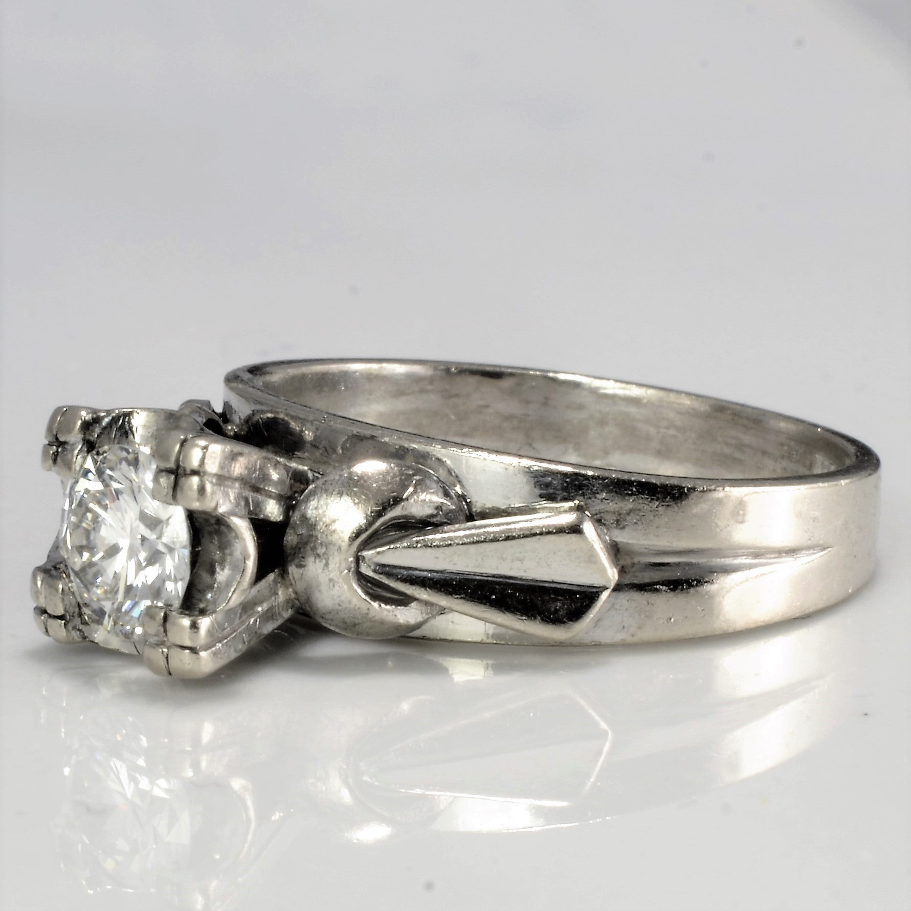 High Set Solitaire Diamond Engagement Ring | 0.45 ct, SZ 6 |