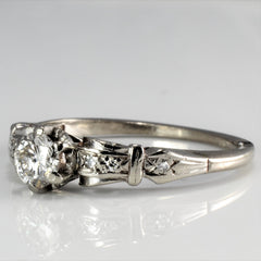 Vintage Retro Diamond Engagement Ring | 0.34 ctw, SZ 7 |