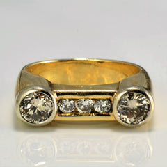 Bezel Set Diamond Ring | 0.77 ctw, SZ 5.5 |