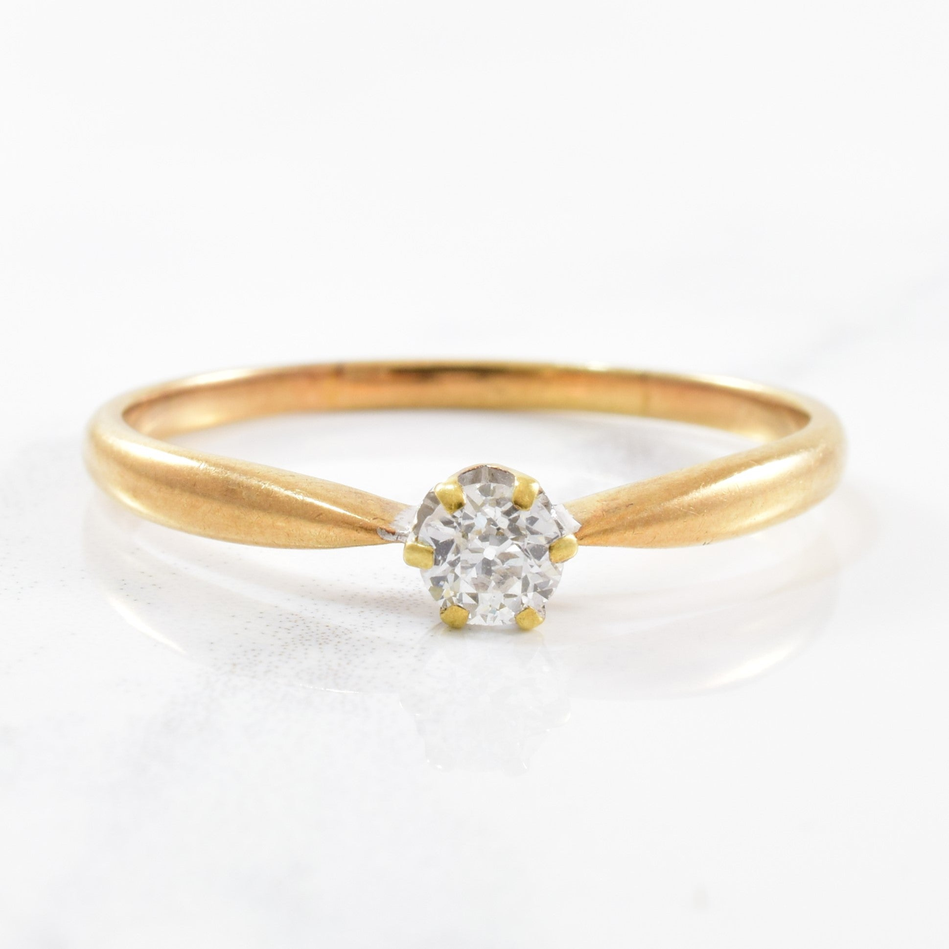 Old European Cut Diamond Solitaire Ring | 0.26ct | SZ 11.25 |