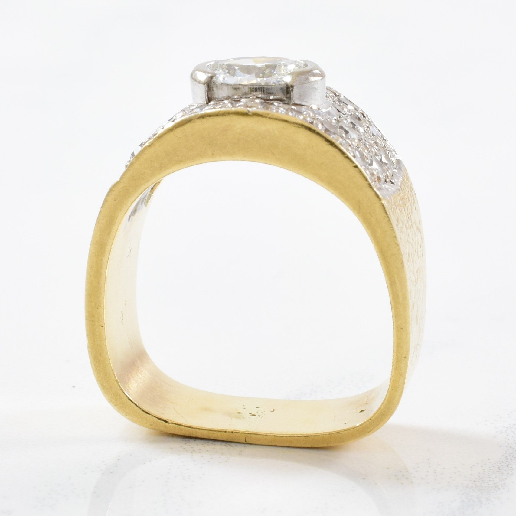 Bezel Set Oval Diamond Ring | 0.80ctw | SZ 4.5 |