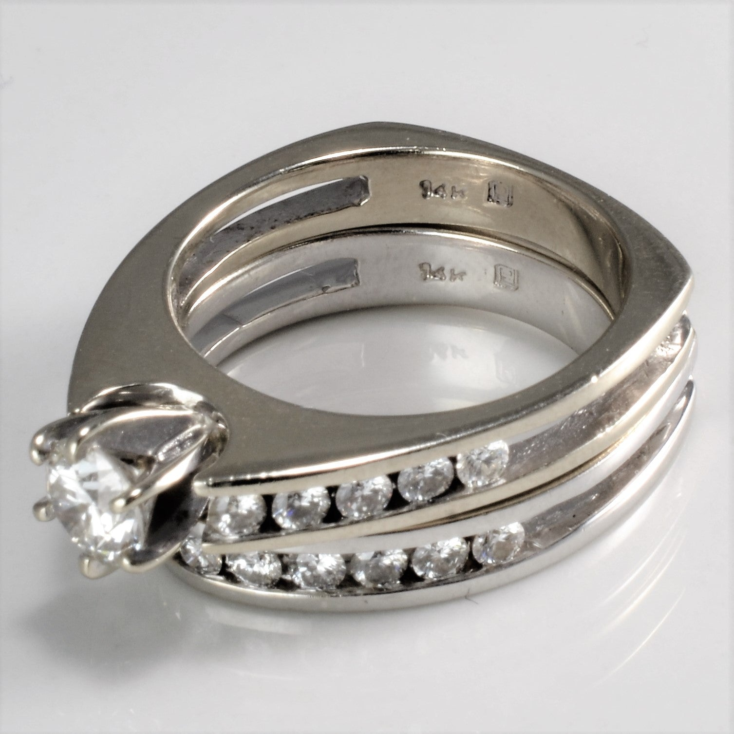 Channel Diamond Ladies Wedding Ring Set | 1.05 ctw, SZ 6 |