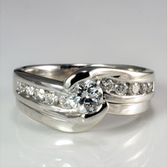 Bypass Channel Diamond Engagement Ring | 0.50 ctw, SZ 5.5 |