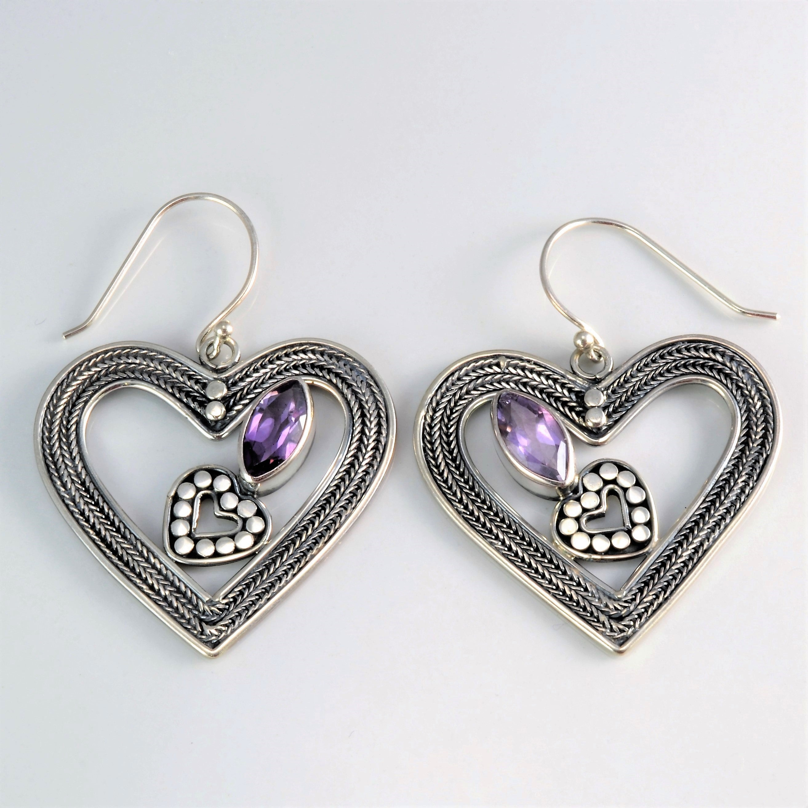 vivienne anglomania westwood stud modesens shape earrings pewter product heart silver