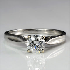 Tapered Solitaire Diamond Engagement Ring | 0.60 ct, SZ 6 |