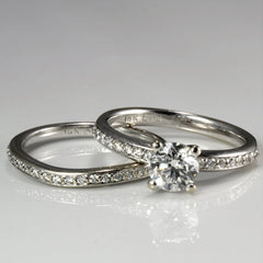 Solitaire with Accents Diamond Engagement Ring Set | 1.05 ctw, SZ 5.75 |